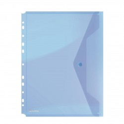 OVM MAPA PLASTIC DONAU A4 CU CAPSA SI PERFORATII ALBASTRU 8540001PL-10