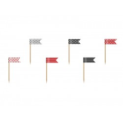 PD DECORATIUNI PENTRU BRIOSE Mini Flags, Ladybug, mix ,7cm 6/set FPM2
