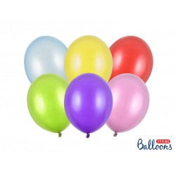 PD BALOANE Strong Balloons 27cm, Metallic Mix, 50/SET SB12M-000-50