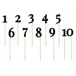Pd Numere Pentru Masa Black, 24-26cm 11bucati Kpz1-010