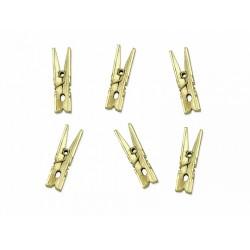 Pd Cleme De Lemn, 3cm, Gold Metallic 20/set Kld-019m