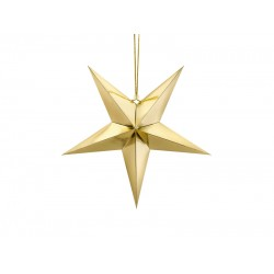 Pd Steluta Din Hartie, Paper Star, 45cm, Gold Gwp1-45-019m