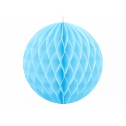 PD ORNAMENT SUSPENDAT HARTIE, Honeycomb Ball, sky blue, 10cm KB10-011