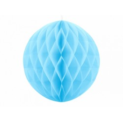 PD ORNAMENT SUSPENDAT HARTIE, Honeycomb Ball, sky blue, 20cm KB20-011
