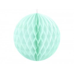 PD ORNAMENT SUSPENDAT HARTIE, Honeycomb Ball, light mint, 10cm KB10-103J