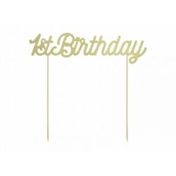 Pd Decoratiuni Pentru Tort 1st Birthday, Gold Kp34-019b