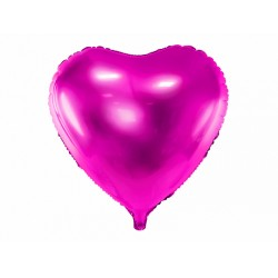 PD BALON FOLIE ALUMINIU Heart, 45cm, dark pink FB9M-006