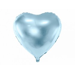 PD BALON FOLIE ALUMINIU Heart, 45cm, sky blue FB9M-011