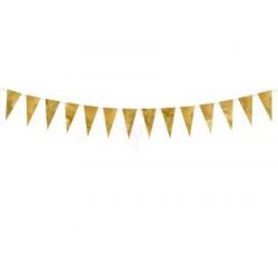 Pd Ghirlanda Decorativa Bunting, Gold, 2.15m Flg13-019m
