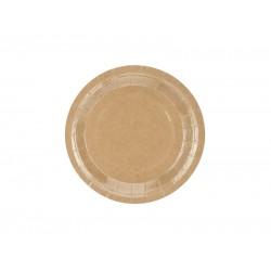Pd Farfurii Carton Kraft, 18 Cm 6/set Tpp35-031