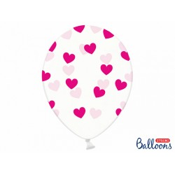 PD BALOANE Balloons 30cm,Hearts, Crystal Clear, 6/SET SB14C-228-099M-6
