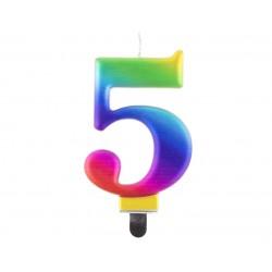 God Lumanari Tort Number 5, Galaxy, 8cm Pf-scg5