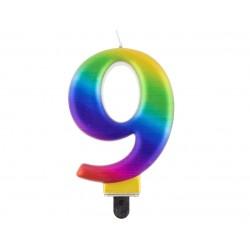 God Lumanari Tort Number 9, Galaxy, 8cm Pf-scg9
