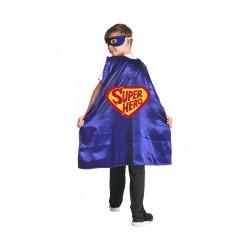 God Capa Pt Copii Super Hero+ Masca 120/130 Cm Sl-su12
