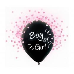God Balon Latex Boy Or Girl Pink Confetti 30cm 4/set H12/bgr4