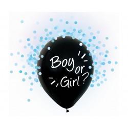 God Balon Latex Boy Or Girl Blue Confetti 30cm 4/set H12/bgn4