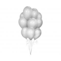 God Balon Latex Beauty&charm Silver Metallic 30cm 10/set Cb-1msr