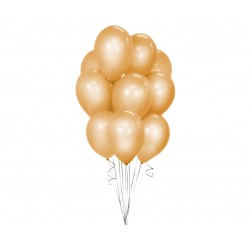God Balon Latex Beauty&charm Gold Metallic 30cm 10/set Cb-1mzl