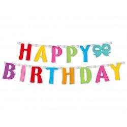 God Ghirlanda Din Hartie Happy Birthday, Colorful, 160*14cm Pf-ghbk