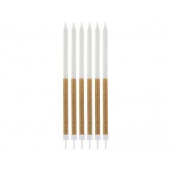 God Lumanari Tort Glitter Candles, Gold, 14.5*0.6cm 16/set Sf-sbzl