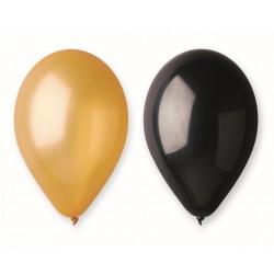 God Balon Latex Beauty&charm Gold/black 30cm 5/set Cb-3z2c