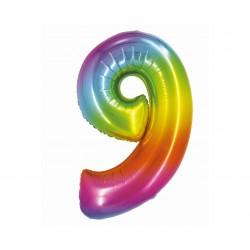 God Balon Folie Aluminiu Smart 9 Rainbow 76cm Ch-stc9