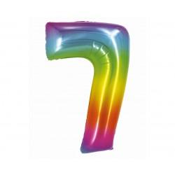 God Balon Folie Aluminiu Smart 7 Rainbow 76cm Ch-stc7
