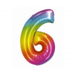 God Balon Folie Aluminiu Smart 6 Rainbow 76cm Ch-stc6