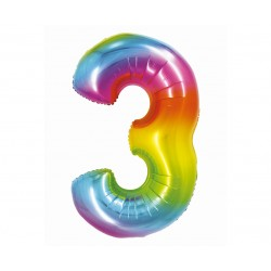 God Balon Folie Aluminiu Smart 3 Rainbow 76cm Ch-stc3
