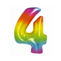 God Balon Folie Aluminiu Smart 4 Rainbow 76cm Ch-stc4