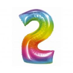 God Balon Folie Aluminiu Smart 2 Rainbow 76cm Ch-stc2
