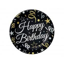 God Farfurii Din Carton B&c Happy Birthday 18cm 8/set Tp-hbd7