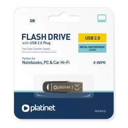 TEC FLASH USB 2.0 PLATINET 64GB 44848 PMFMS64