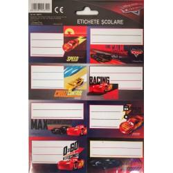 LEC ETICHETE SCOLARE 40/SET, 5 TIPLE, CARS CAET11