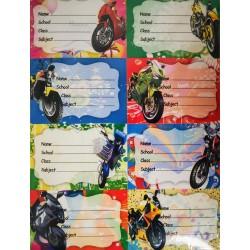 Leg Etichete Scolare Motocicleta 8/coala, 10 Coli E264