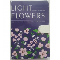 LEG JURNAL LIGHT FLOWERS B6 CU CLAPA MAGNETICA J96