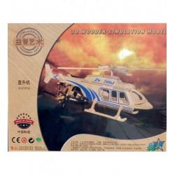 Leg Puzzle Lemn 3d Elicopter Simulare P2147