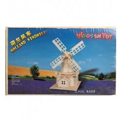 Leg Puzzle Lemn 3d Moara De Vant 34*21cm S1841