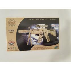 Leg Puzzle Lemn 3d 34*21*2mm Carabine P3204
