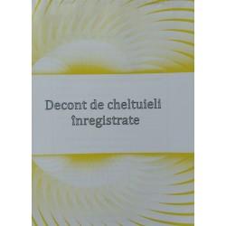 GOL DECONT CHELTUIELI INREGISTRATE A5