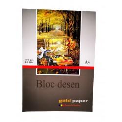 GOL BLOC DESEN A4 GOLD 170G