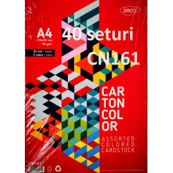 ADA CARTON COLOR ASORTAT DACO A4 160G 30/SET 5 CULORI CN161