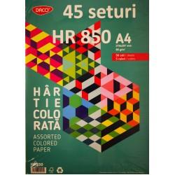 ADA HARTIE COLORATA ASORTATA DACO A4 80G 50/SET 5 CULORI HR850