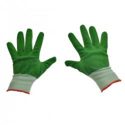 Manusi de protectie complet cauciucate. cu manseta elastica. marime universala. verzi