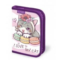 He Penar Neechipat 1 Fermoar Herlitz  Motiv Happy Kitty 9486870