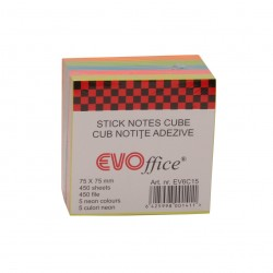 GOL POST IT CUB EVO 75*75 NEON GP0199