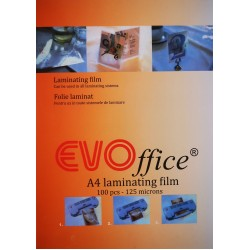 GOL FOLIE LAMINAT A4 125 MICRONI EVOFFICE 100/SET