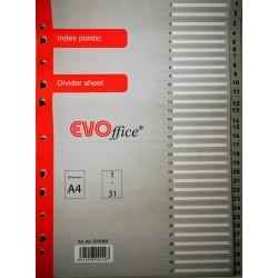GOL SEPARATOARE INDEX PLASTIC 1-31 EVOFFICE GRI