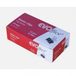 GOL CLIPS HARTIE 25MM EVOFFICE 12 BUC/CUTIE GP0109/EV3B03