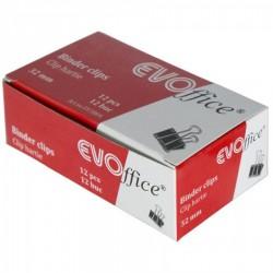CLIPS HARTIE 32MM EVOFFICE 12 BUC/CUTIE EV3B04
